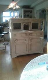 Vintage shabby chic court cupboard