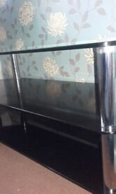 Heavy black glass 3 tier stand/table NOW REDUCED!!!!