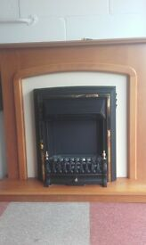 electric fire with oak surround excellent