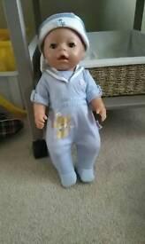 Boy baby born doll