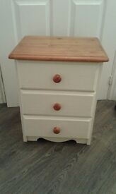 Lovely solid pine bedside table.