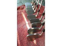 Set of Mizuno MX19 Golf Irons (9) 3-SW. Regular Flex Steel Shafts. Near New Lamkin Grips.