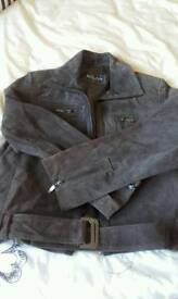 Brown leather suade jacket 14