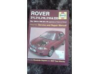 Rover 211,214,216,218 and 220 Haynes Manual