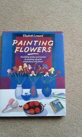 Painting Flowers by Elizabeth Leonard