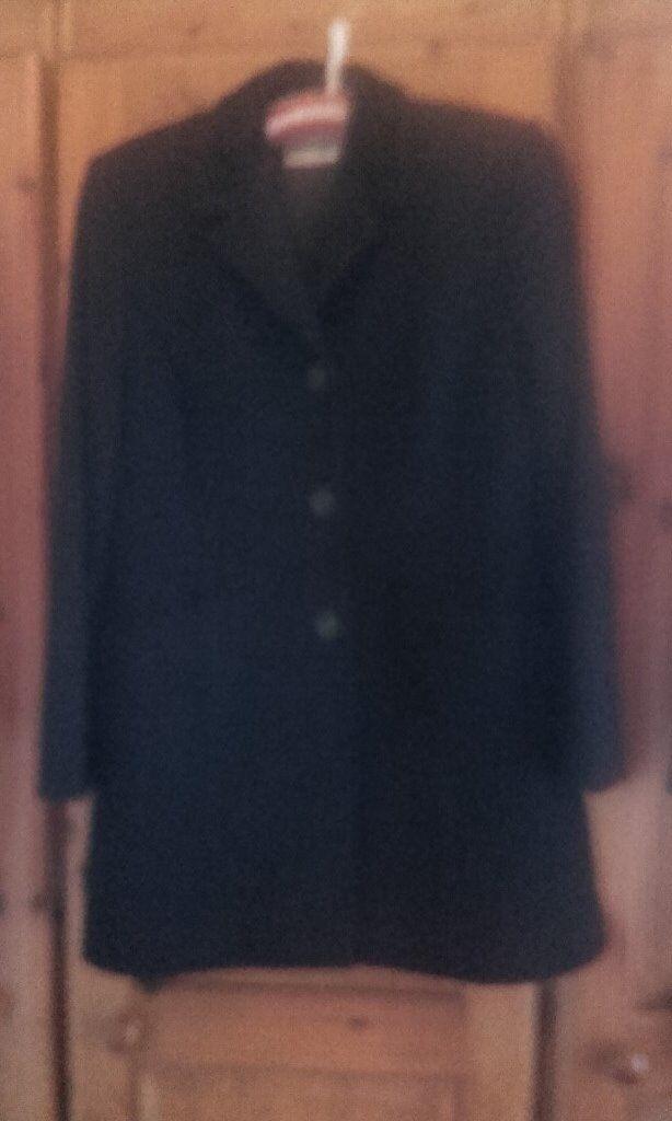 3e4a890a531e Womens size 12 wool mix black coat