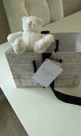 Mini little white company bear bnwt