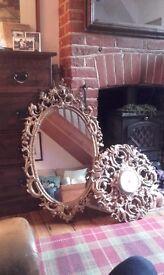 Mirror or lock in gilt like frames