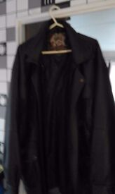 MENS XL SOFT REAL LEATHER JACKET BLACK