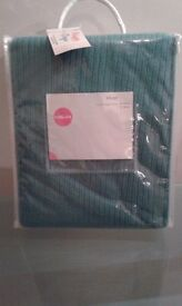 Teal bed/furniture throw