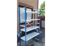 HEAVY DUTY BOLTLESS ALL STEEL RACKING UNIT, STORAGE SHED MAN CAVE ETC