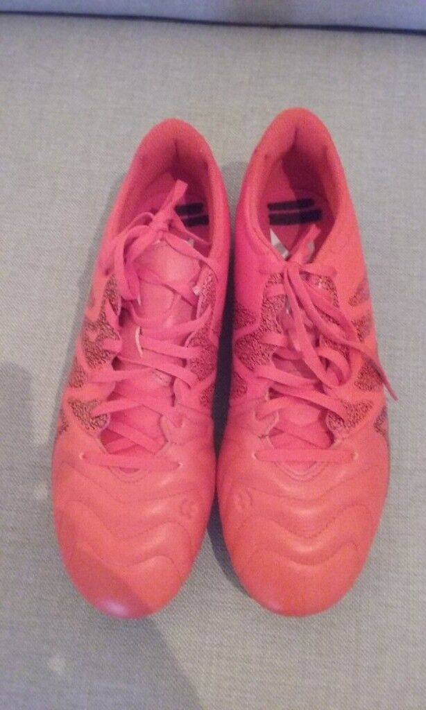 b3366476a47f Adidas X 15.3 men s moulded stud orange leather football boots size 9 great  condition