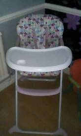 Mothercare high chair reclines