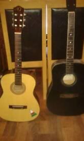 Two aqustic guitars