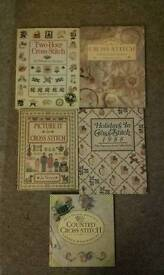 5 cross stich books