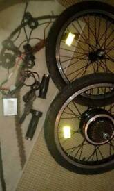 "Front and rear 20"" wheels . electric bike , motor kit"