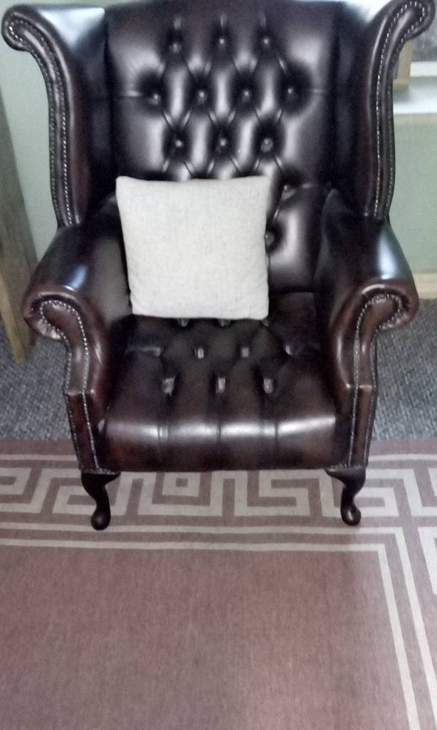 Leather Armchair Library Chair In Burry Port