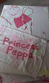 Peppa Pig Duvet Cover & Pillow Case, used but still vgc