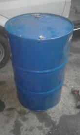 Oil dum wood burner fire drum