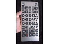 Giant remote control for tv, cable, dvd, vcr, anything.