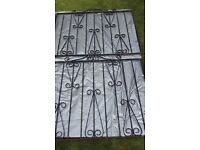 Wrought Iron Drive and path gates