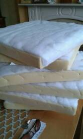 Six foam seat pads suitable for upcycling/reupholstery of chairs