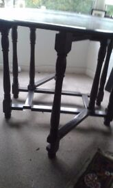 Vintage drop leaf dining table. Ideal shabby chic project!