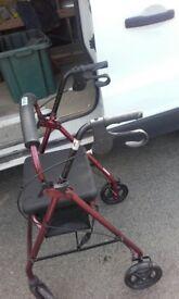 Walking aid/ chair.