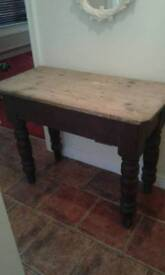 Old original oak and pine hallway/ small dining table