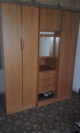 two double wardrobes matching