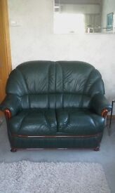 Green leather suite
