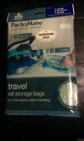 PACK MATE TRAVEL STORAGE SAVING ROLL UP REUSABLE BAGS