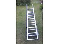 10 foot extendable metal loft ladder (2x 5ft)