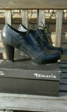 reputable site aa53d ab020 Tamaris Wortmann Leder Schuhe black antic Gr. 40