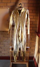 Bright Gold Full Body Catsuit Unisex XS (size 10)