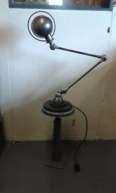 Original French Jielde 2 arm Lamp on base..PAT tested .stripped and polished
