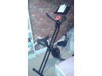 Brand new folding exercise bike with iPad holder