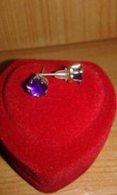 Cubic Zirconia Earrings in Box 7 Pairs
