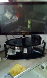 Tv stand 50 inch tv immaculate condition