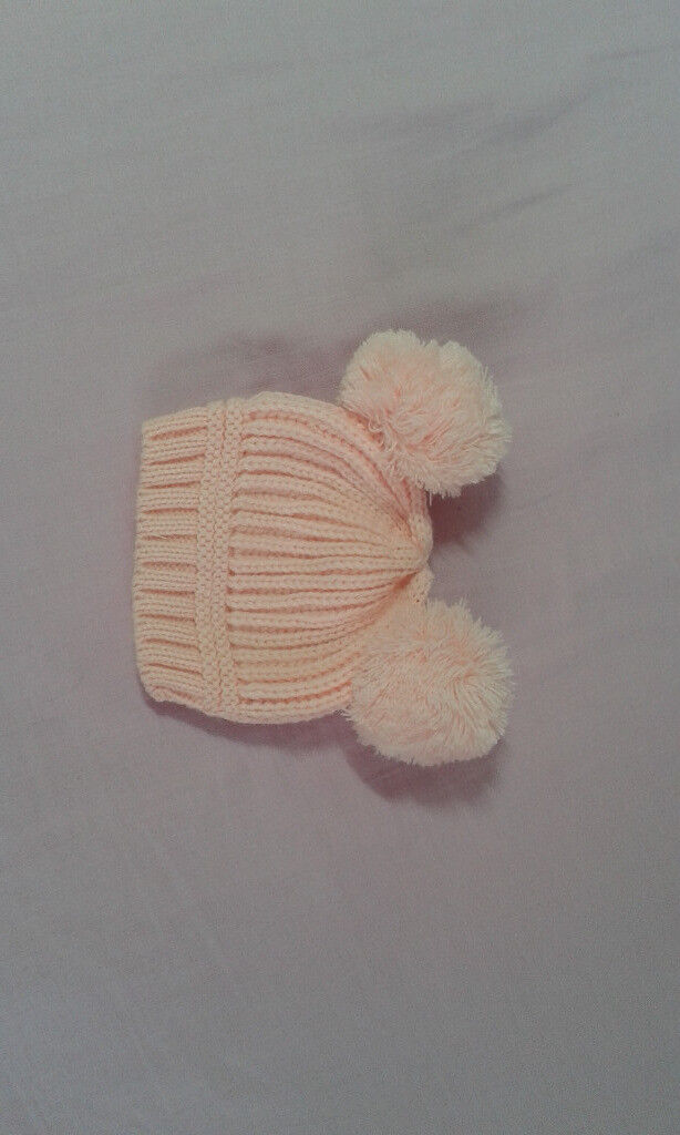Newborn 0-3 mnth Baby Girl Knitted Pink hat