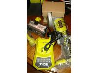 Ryobi cordless grinder with 4ah battery