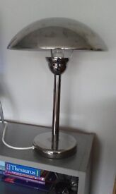 Table lamp, touch base operated