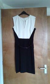 Dress Black and white block dress