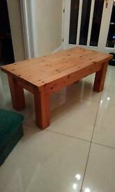 Solid chunky reclaimed pine coffee table.