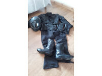 Motorcycle Kit (Jacket/Trousers/Boots/Helmet and Gloves)