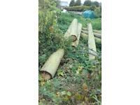 10 ft and 20 ft length wooden poles