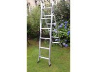 GREAT , ALMOST AS NEW ,ALUMINIUM ABRU 3 IN 1 (STEP/EXTENSION/STAIR ) LADDER FOR SALE. COULD DELIVER.