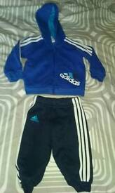 Baby boys blue adidas track suit