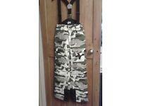 "Camouflage Salopettes Age 12 Waist 27"" – 68cm"