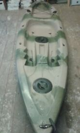 kayak and: seat, paddles and life jacket. green available